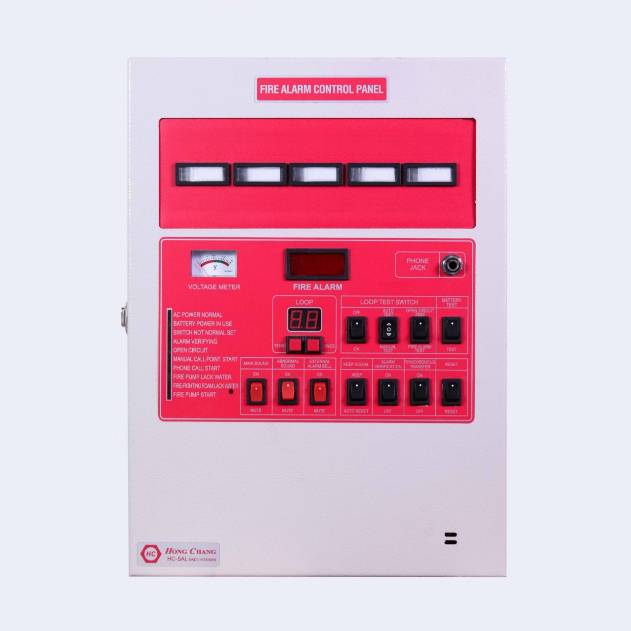 Control panel HC 5 AL/ 5 Zone besi